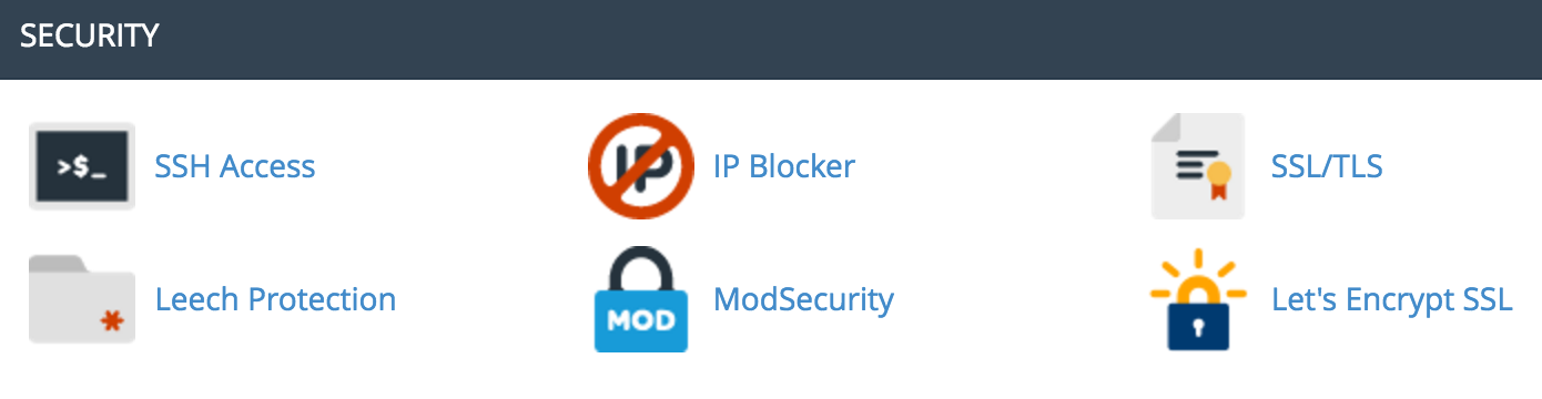 Screenshot of Ngage Cpanel with Let's Encrypt icon